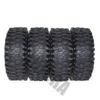 "4PCS 120MM 1.9"" Rubber Rocks Tyres / Wheel Tires for 1:10 RC Rock Crawler Axial SCX10 90046 AXI03007 D90 D110 TF2 Traxxas TRX-4 2"