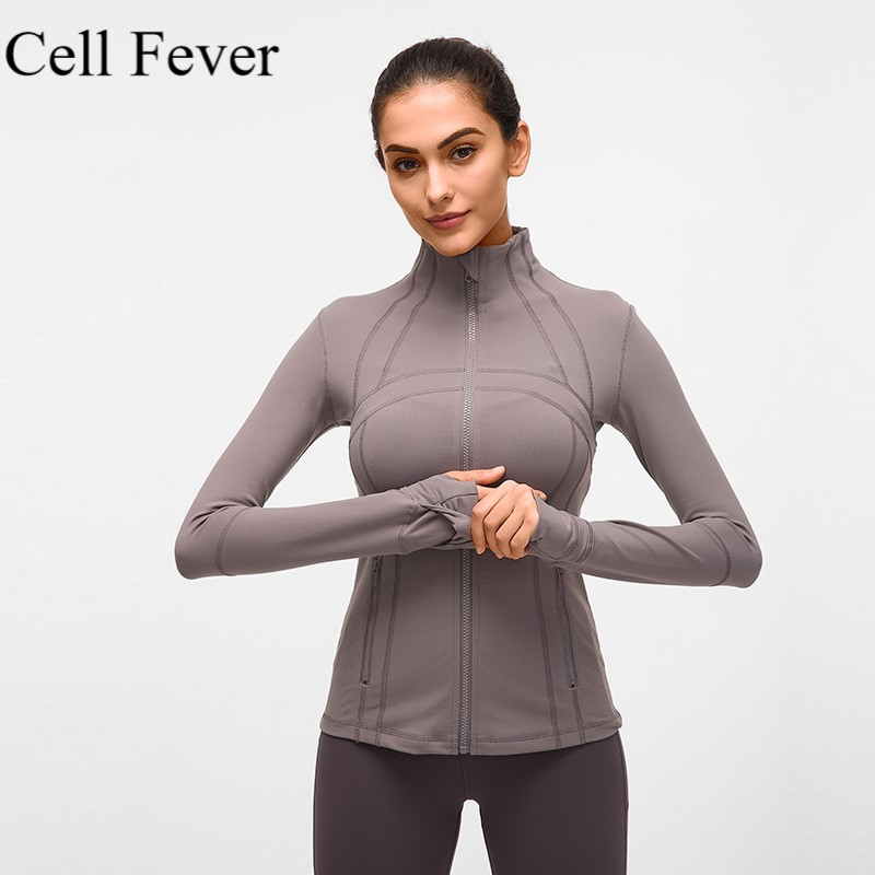 Yoga Tops Women Long Sleeve Yoga Shirt Running Jacket with Thumb Hole Jogging Sport Tops Fitness Workout Gym Clothing Sportswear