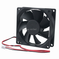 10Pcs Gdstime DC 48V Cooling Fan 80mm x 25mm Dual Ball Bearing 2Pin 8025 80*80*25mm PC Case Motor Cooler 8cm|Fans & Cooling|Computer & Office -