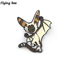 Flyingbee The Last Airbender Enamel Pin Cartoon Brooch Collection Metal Lapel Badge Brooches for Women Men Jewelry X0411