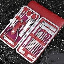 Beauty Manicure Pedicure Knife and Scissors Care Kit Fingernail Maintenance Kit 19-Piece Set Nail Clippers Eagle Tools Full Set