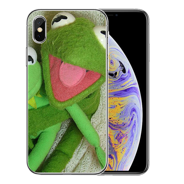 Kermit – coque de téléphone en Silicone TPU souple, étui amusant pour iPhone 11 Pro, 11Pro Max, 8, 7, 6, 6S Plus, X, XS MAX, 5, 5s, SE, XR