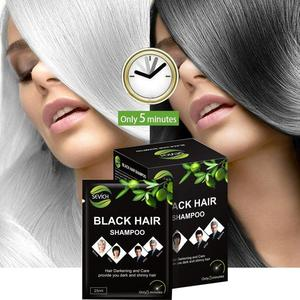 10Pcs/Set Black Hair Dyeing Shampoo Hair Dye