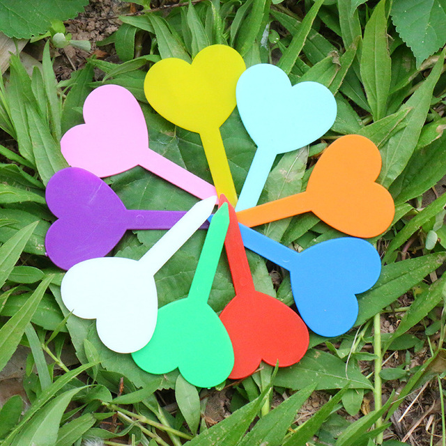 80Pcs Garden Plant Labels Plastic Plant Tags Nursery Markers Flower Pots Seedling Labels Tray Mark Tools Mix Colors