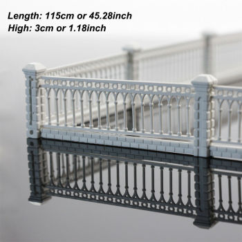 1 Meter Model Railway White Building Fence Wall 1:87 HO OO Scale LG10001 1