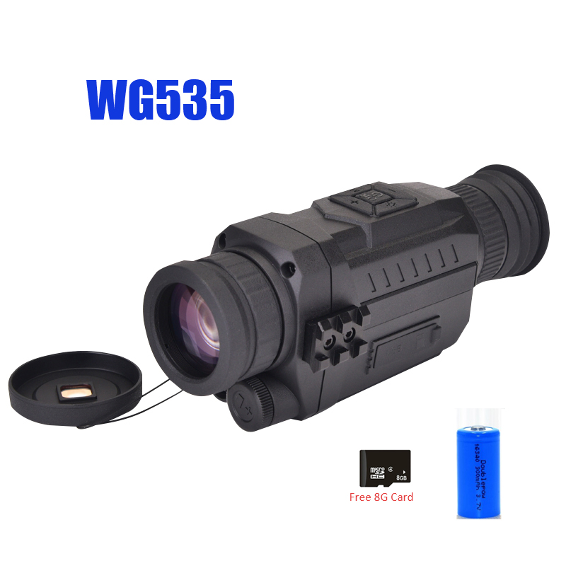 Image 4 - WG540 Infrared Digital Night Vision Monoculars with 8G TF card full dark 5X40 200M range Hunting Monocular Night Vision Optics-in Monocular/Binoculars from Sports & Entertainment on
