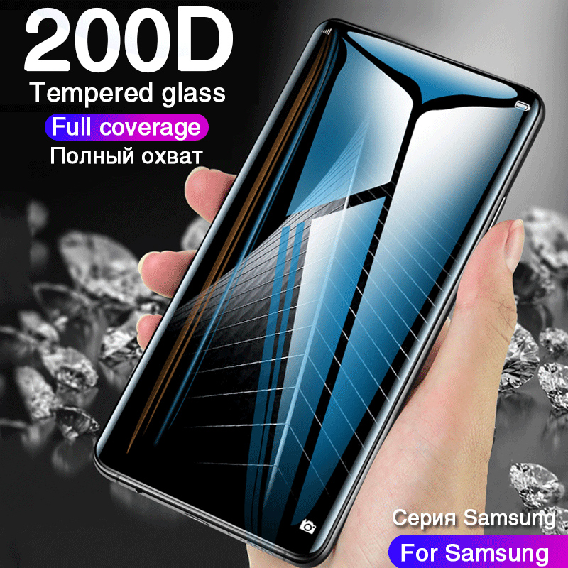 200D curved Temped glass for samsung galaxy s8 s9 plus note 8 9 s6 s7 Edge a3 a5 screen protector on samsung s8 protective film-in Phone Screen Protectors from Cellphones & Telecommunications