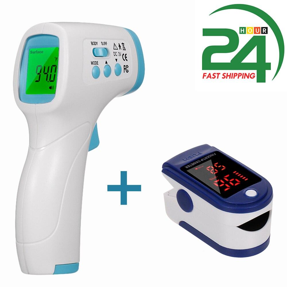 Termômetro digital + oxímetro de pulso dedo display oled clipe oximetro hrv spo2 pr pi taxa respiratória monitor do sono