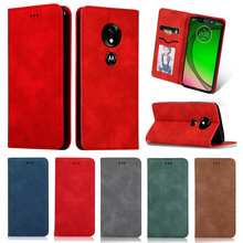Flip Leather Case For MOTO G7 Power G7 Play Vintage Wallet Bracket Case For MOTO G7 G7 Plus цена