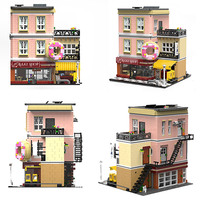 UG 10180 Creator Series Bake Shop Baking House Bakery Building Blocks Toys 2919pcs Bricks Set Compatible City
