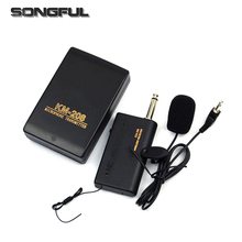 Professional Remote Wireless Microphone System Headset Lavalier Lapel Mic Receiver Transmitter Radio Megaphone Clip 3.5mm mic