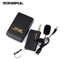 Sistema de microfone sem fio, headset profissional com controle remoto, microfone e receptor, transmissor de rádio, megafone 3.5mm com microfone