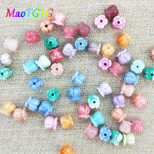 Fashion Bell Orchids Coral Beads For Jewelry Making Necklace Bracelet Multi-color Bell Orchids Beads Jewelry Making Wholesale недорого