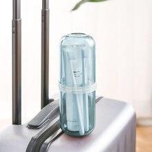 Дорожная портативная прозрачная чашка для мытья набор зубных