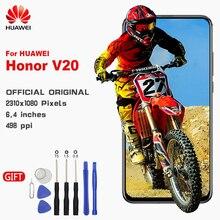 HUAWEI LCD Dokunmatik Ekran Çerçeve ile Orijinal Ekran Için Huawei Onur V20 Görünüm 20 PCT AL10 PCT L29 Yedek LCD Ekran