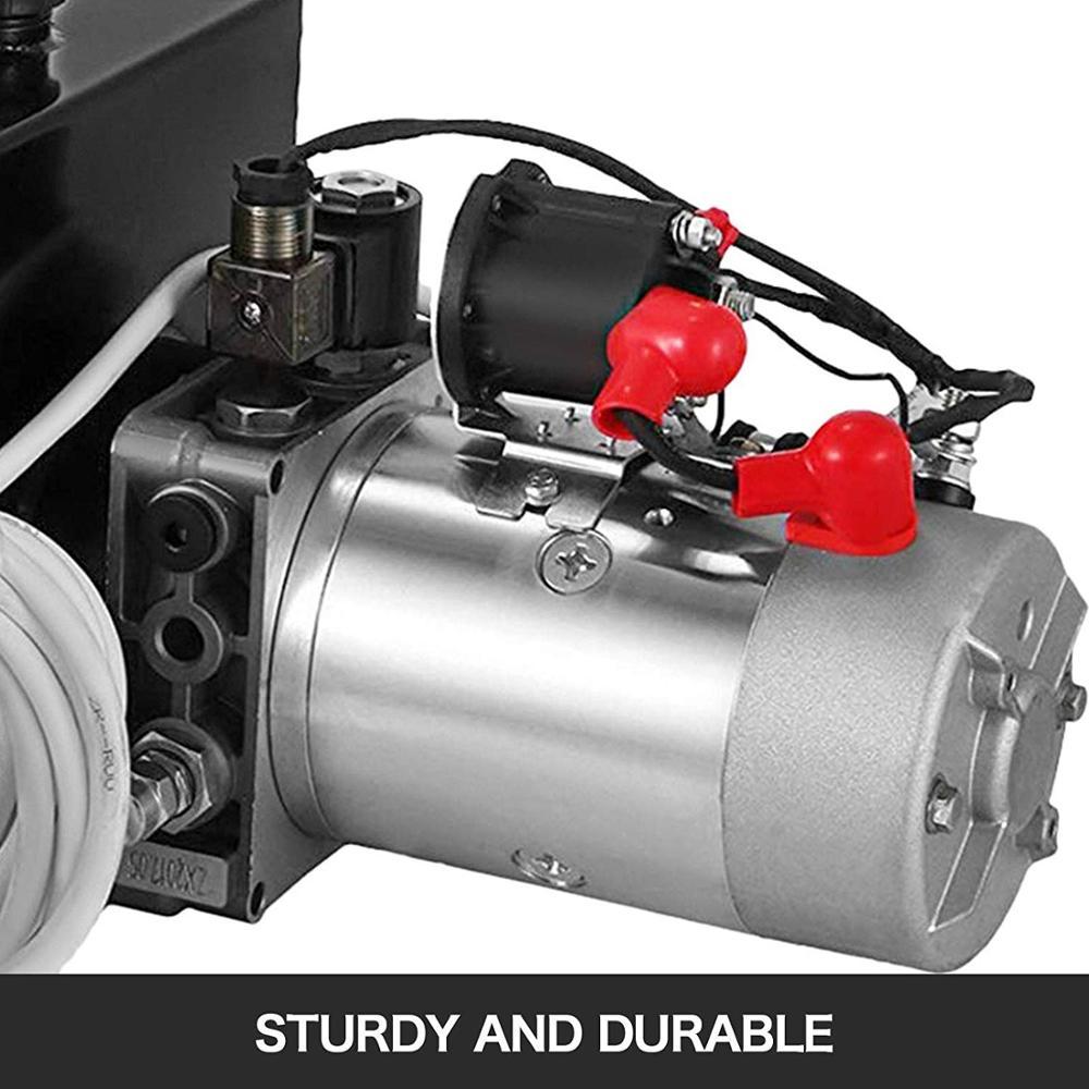 Centralina idraulica 8L Pompa a doppio effetto Potenza idraulica 12V - Utensili elettrici - Fotografia 4