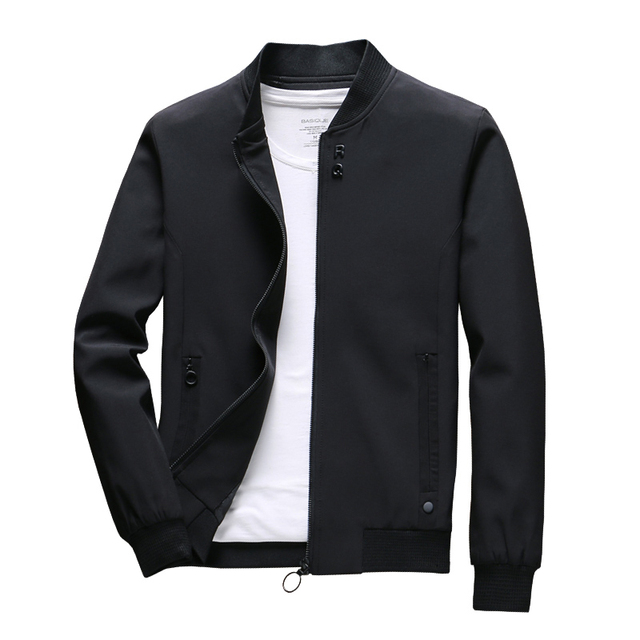COMLION Mens ฤดูใบไม้ผลิแจ็คเก็ตและเสื้อโค้ทสีทึบเสื้อลำลองผู้ชายขายร้อนแจ็คเก็ต Jaqueta Masculina เอเชียขนาด SLIM FIT c34
