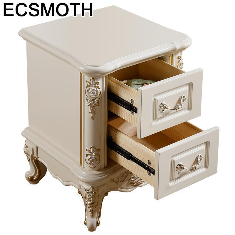 Mesillas noche para o armário de madeira europeu quarto móveis de dormitório mesa de cabeceira