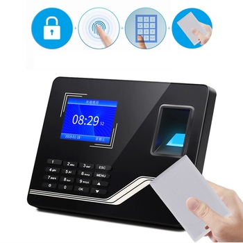 F20 Attendance Machine Intelligent Biological Fingerprint Password Attendance Machine Employee Sign-In Recorder(EU Plug)