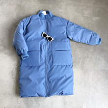 2019 winter new women's cotton suit Korean version of the long section of bread service casual screw tooling coat