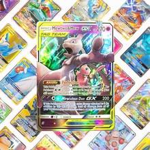 Акционная цена Pokemon card GX EX TAG TEAM MEGA Shining TAKARA TOMY карты игры битва карт торговля детская Подарочная игрушка