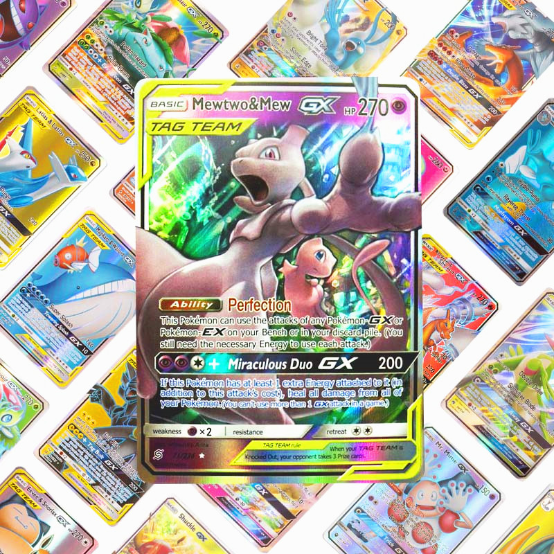Promotion Price  Pokemon Card GX EX TAG TEAM MEGA  Shining TAKARA TOMY Cards Game Battle Carte Trading Children Gift Toy