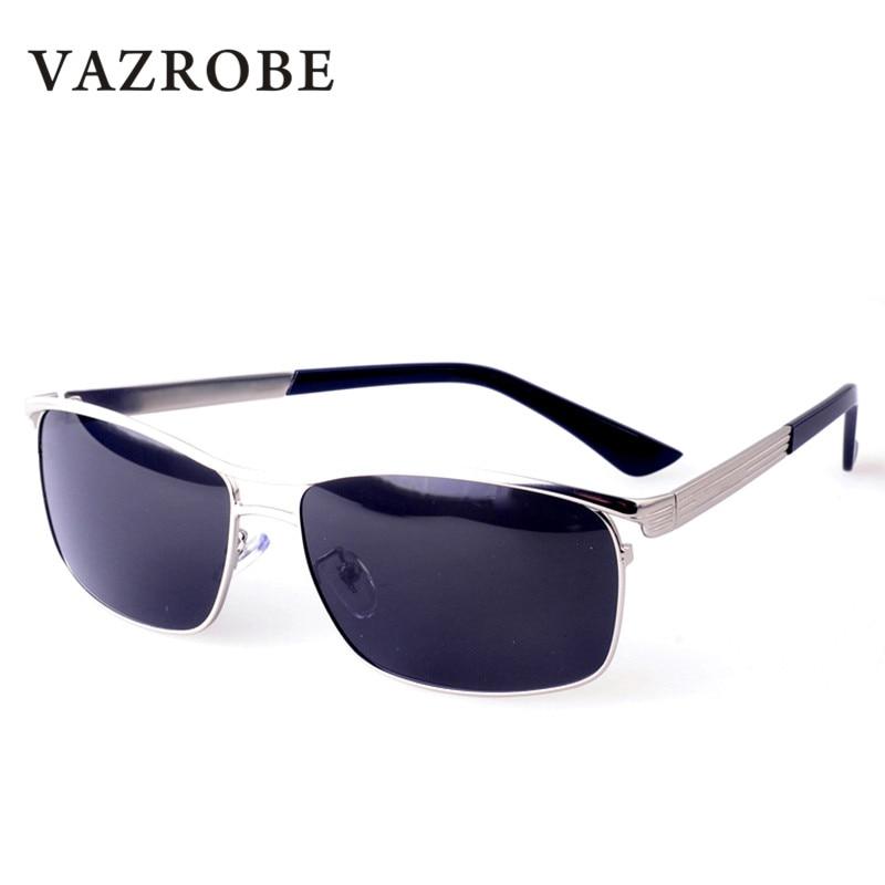 Vazrobe man brand polarized sunglasses polaroid polarizing sun glasses men rectangle black sun glasses for male