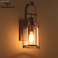 American Industrial LOFT Wall Lamps Vintage Glass Led Wall Lamp Bathroom Bedroom Wall Lights for Home Mirror Wall Sconce Lamp