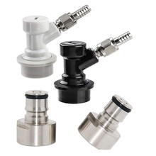 Ball Lock Keg Coupler Adapter Ball Lock Quick Disconnect Conversion Kit Keg Coupler 5/8 Thread Stainless Steel Gas & Liquid Post(China)