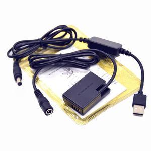 Image 2 - DSLR USB Charger Power bank Cable+LP E17 DR E18 Dummy battery for Canon EOS 750D Kiss X8i T6i 760D T6S 77D 800D 200D Rebel SL2