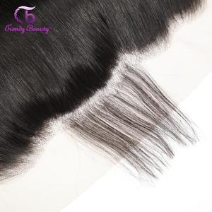 Image 5 - Alla moda di Bellezza del tessuto Brasiliano Fasci di Capelli Lisci Con Veletta frontale 100% Fasci di Capelli Umani Con Veletta frontale Medio Rapporto Non remy