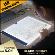 Ультра тонкий A4 светодиодный светильник, коврик для художника, светильник, коробка для стола, доска для рисования, коврик для алмазной живописи, инструменты для вышивания