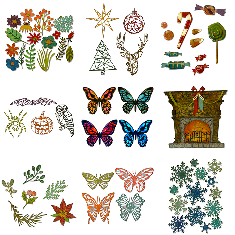 2020 Hot New Sentiment Metal Cutting Dies Christmas Scrapbooking Foil Crafts For Card Making Animal Stamps And Halloween Die Cut