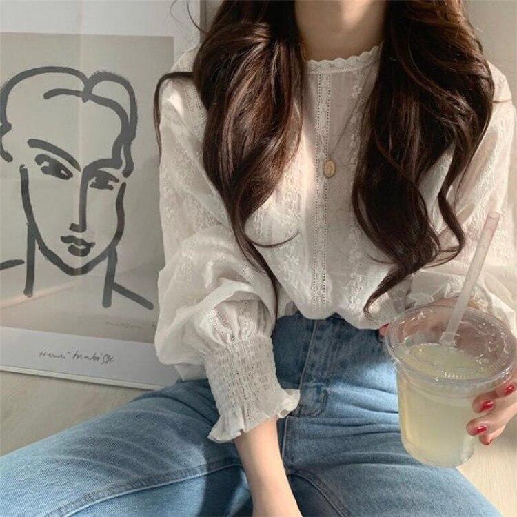 vintage plus size women tops white lace loose blouse shirt womens tops and blouses long sleeve women shirts elegant blusas 6