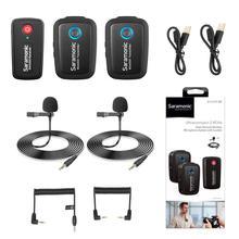 Saramonic Blink 500 micrófono condensador estudio 2,4 GHz micrófono Lavalier inalámbrico de doble canal para DSLR, sin Espejo, iPhone