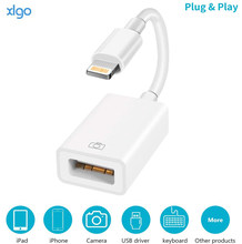 Lightning to USB 3.0 Camera Reader OTG Adapter for Apple iOS 9.2-14 Connector Kit Data Cable For iPhone 12 7 8 X 11Pro/iPad 3 4