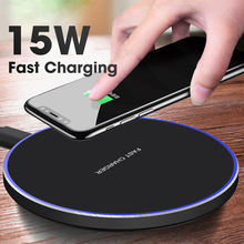 FDGAO 15W Qi Wireless Fast Charger For iPhone X/XS Max XR 8 Plus Airpods Samsung S8 S9 Note 9 Phone 10W Charging Pad