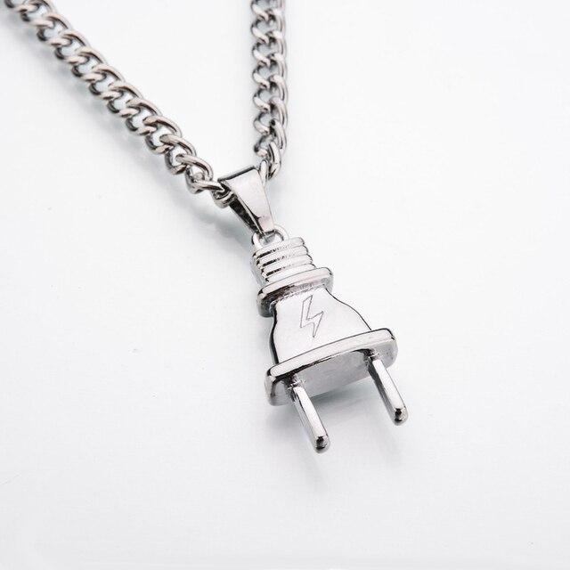 Electrical Plug Shape Pendants Necklaces 4