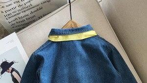 Image 5 - 유머 베어 2019 새 여자 데님 드레스 가을 어린이 옷 소녀 유아 아기 드레스 공주 나비 Chiristmas 파티 드레스