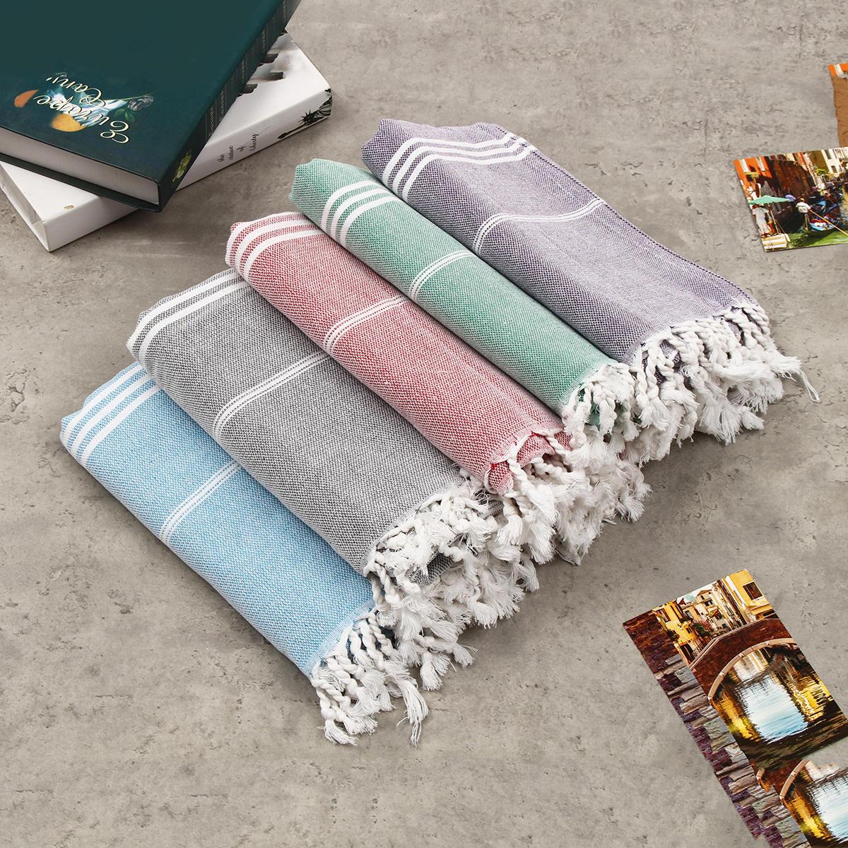 Sport Towel Peshtemal,100/% Cotton Turkish Bath Towel,Striped Beach Towel,Pool