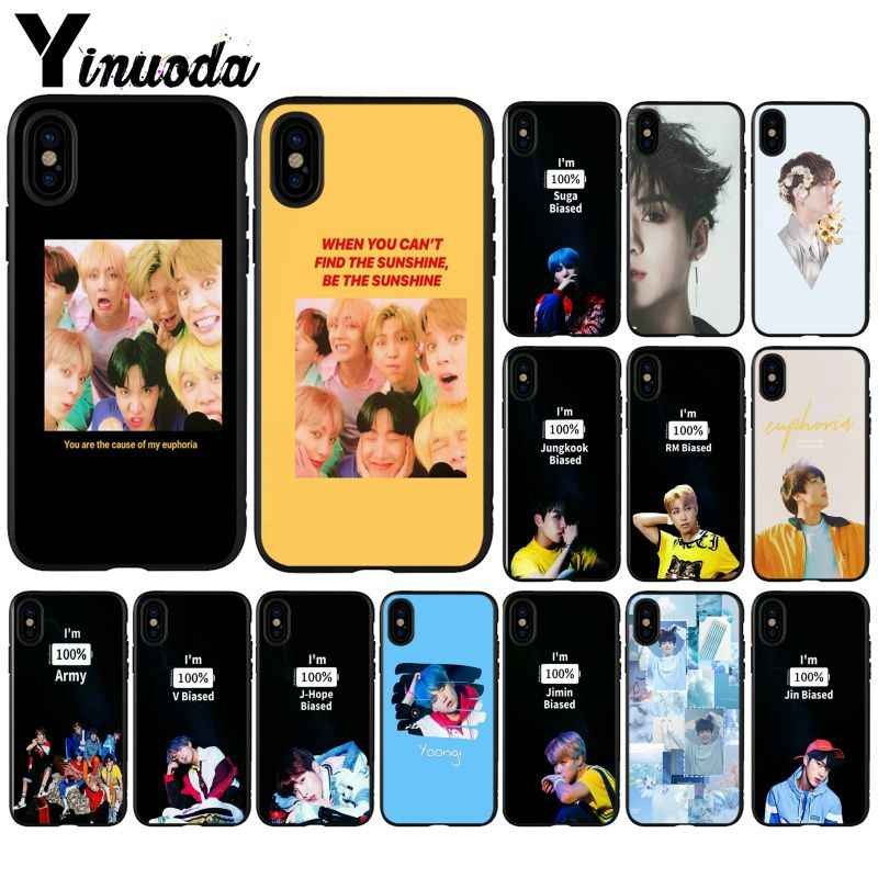 Yinuoda KPOP Euphoria Jungkook Coque Shell Phone Case for iPhone 5 5Sx 6 7 7plus 8 8Plus X XS MAX XR