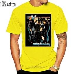 2002 T Shirt Xl Nsync Celebrity Tour Logot Shirt Size S-2Xl Best Item Digital Printed Tee Shirt
