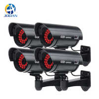 4pcs Waterproof Fake Camera Dummy Outdoor Indoor Bullet Security CCTV Surveillance Camera IR Infrared 30PCS LED On at Night