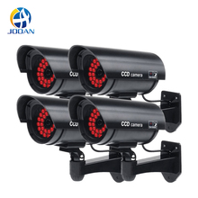 4pcs Waterproof Fake Camera Dummy Outdoor Indoor Bullet Security CCTV Surveillance IR Infrared 30PCS LED On at Night