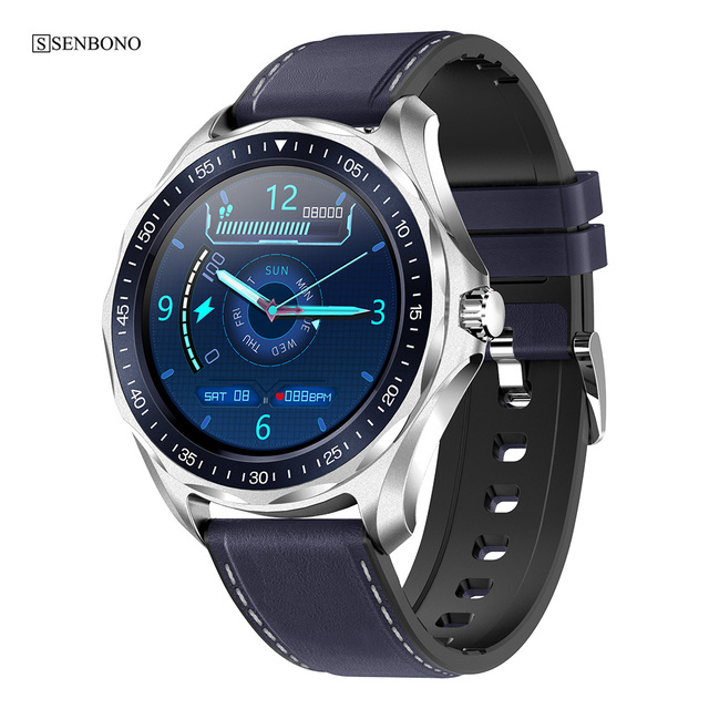 SENBONO ספורט IP68 עמיד למים גברים שעון חכם שעון Bluetooth 5.0 נשים כושר Tracker 2020 Smartwatch עבור IOS אנדרואיד