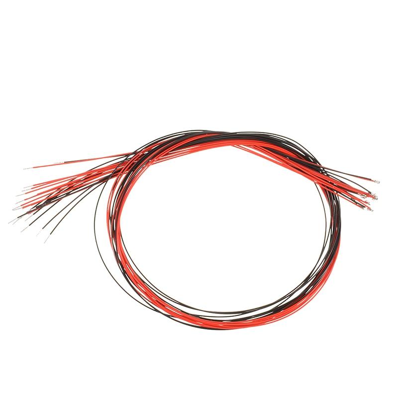 10Pcs 0402 Pre-soldered Green SMD Led Micro Litz Wired Green Leads SMD Led 2.8V-3.4V 5mA/20mA For 3V Model Car Light