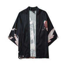 Summer New Fashion 2020 Japanese Five Point Sleeves Kimono Mens And Womens Cloak Jacke Top Blouse camisa hombre masculina(China)