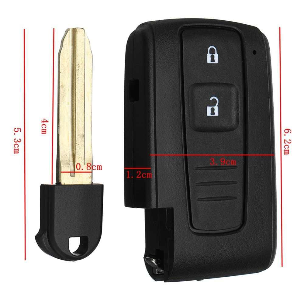 2 botão remoto chave escudo fob caso interruptor da bateria para toyota corolla verso prius