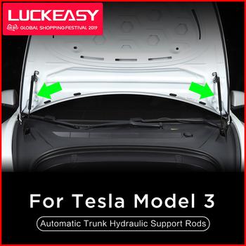 LUCKEASY dla Tesla Model 3 2017-2019 przednia okładka samochodu skrzynka ogonowa automatyczny hydrauliczny pręty podtrzymujące 2 sztuk zestaw tanie i dobre opinie stainless steel