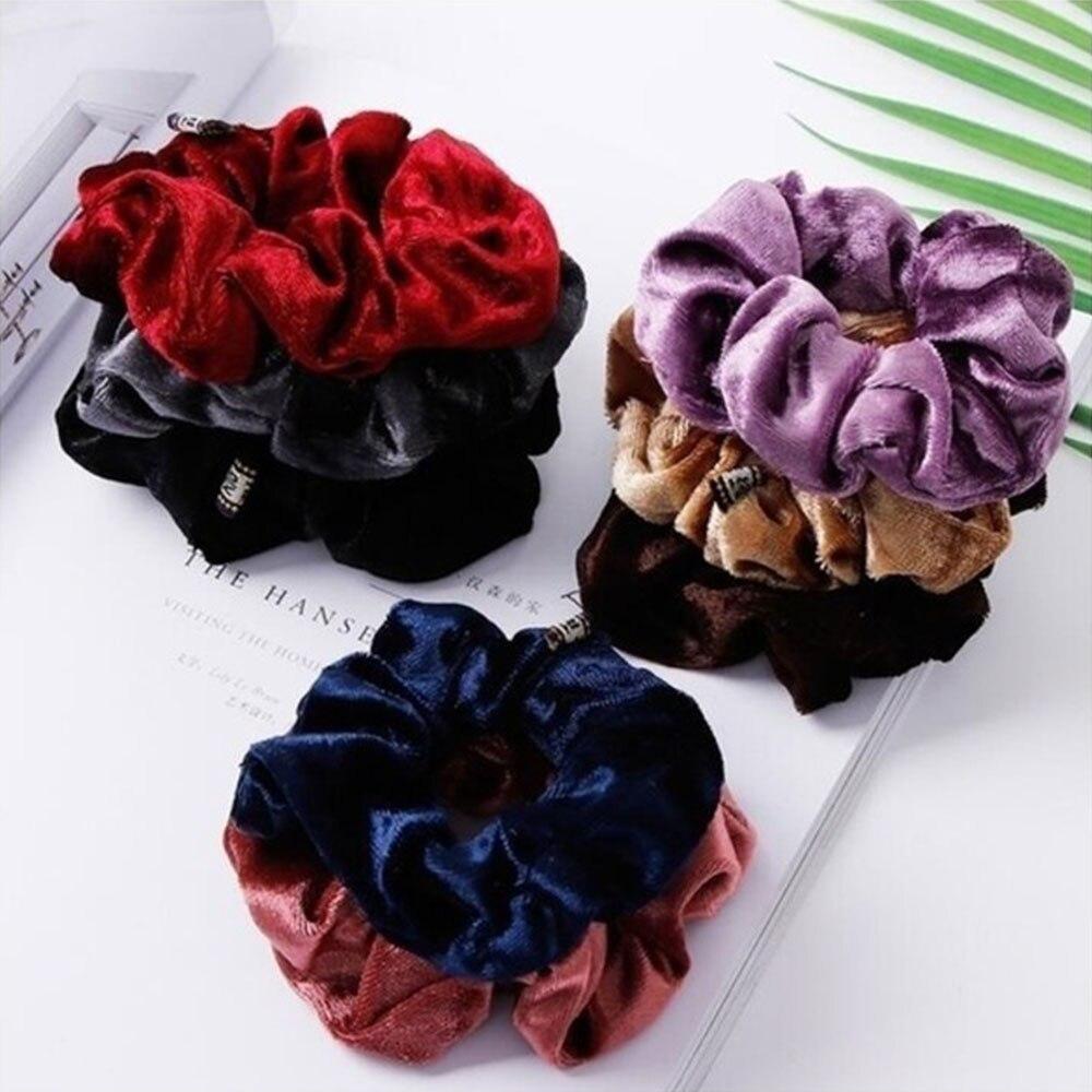 10PC//Set Velvet Elastic Hair Bands Scrunchy for Women or Girls Hair Accessories